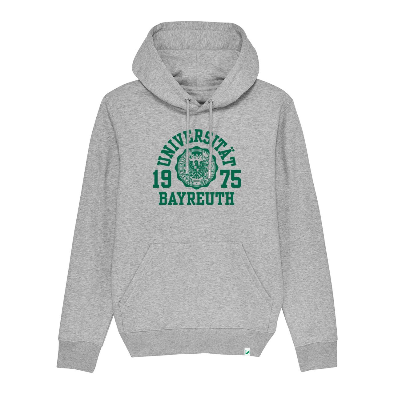 Unisex Organic Hooded Sweatshirt, heather grey, marshall.green
