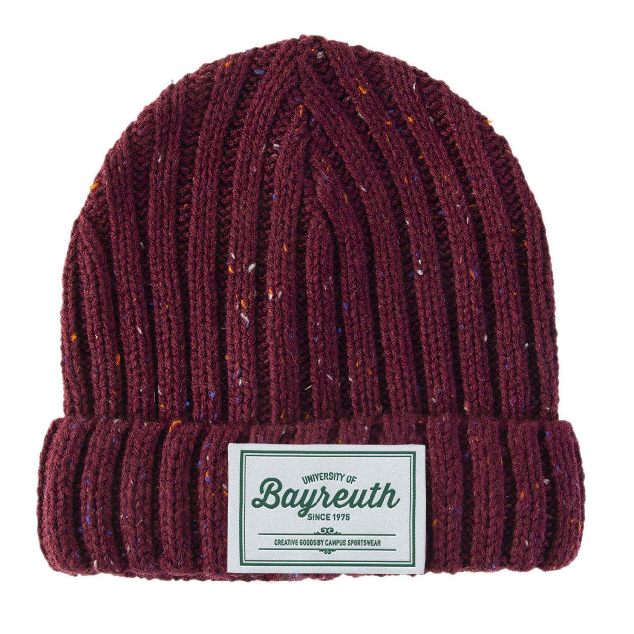 Strickmütze, burgundy, label