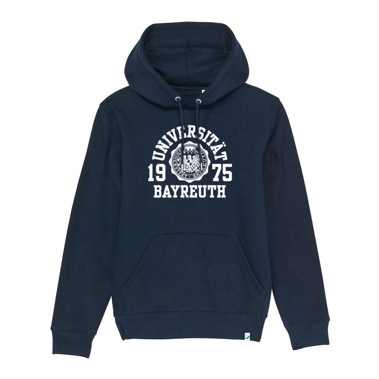 Unisex Organic Hooded Sweatshirt, navy, marshall