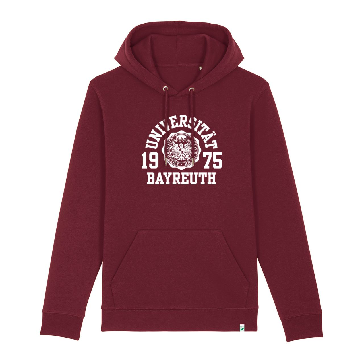 Unisex Organic Hooded Sweatshirt, burgundy, marshall
