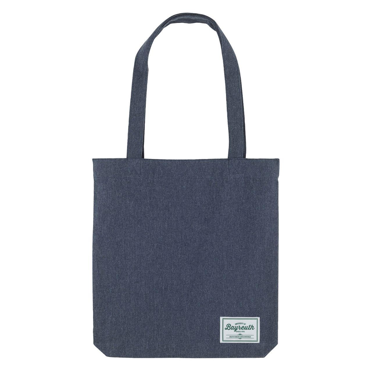 Organic Tote Bag, navy, label