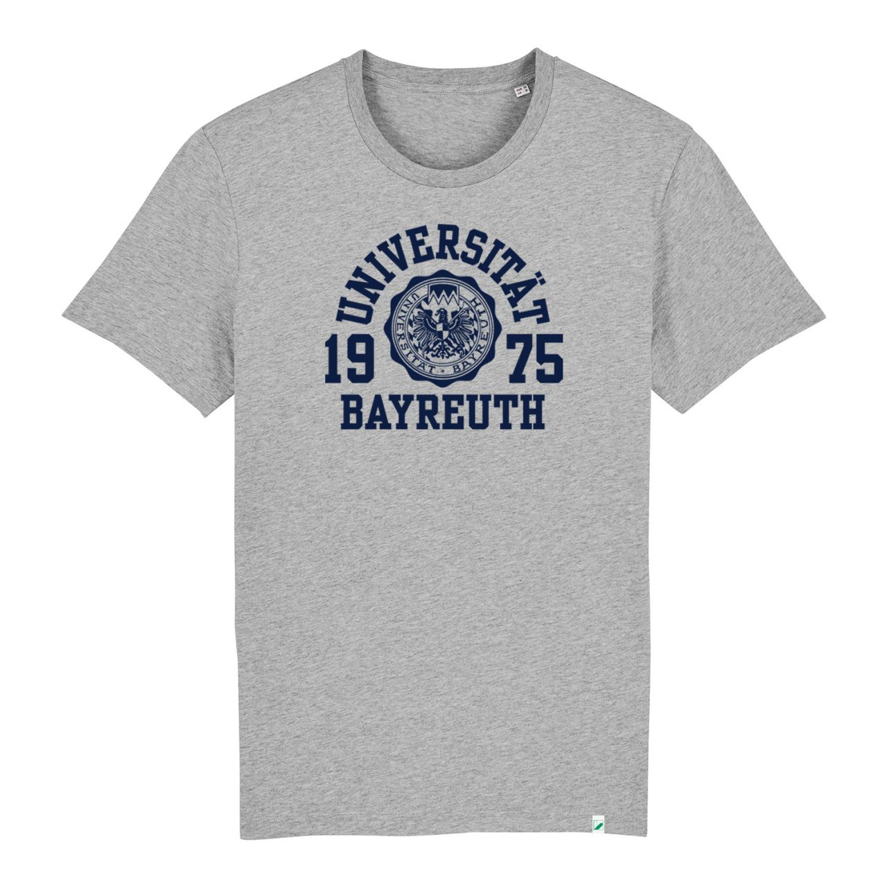 Unisex Organic T-Shirt, heather grey, marshall.navy